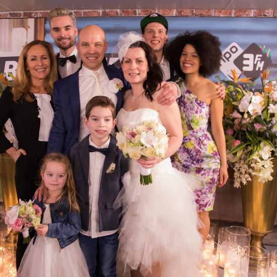 3FM Serious Request bruiloft van Kelly en Roy: fotograaf 3FM