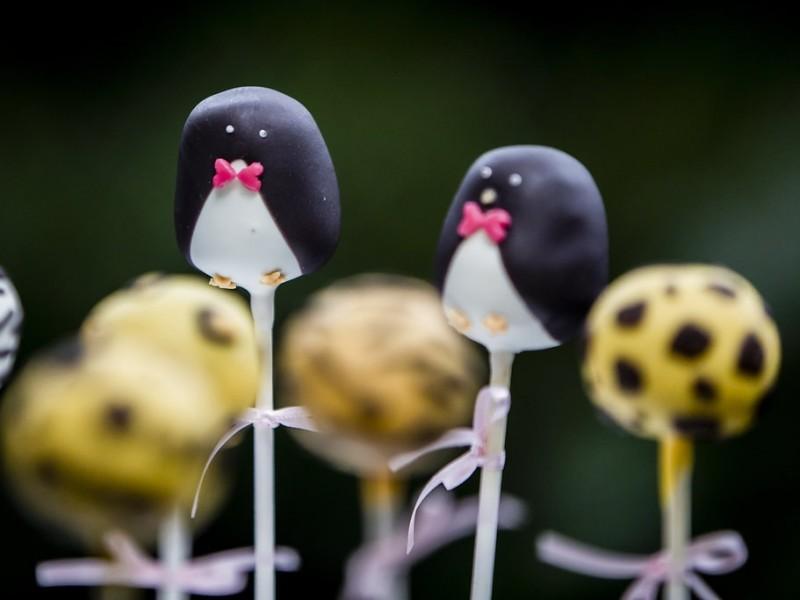 Cake-pops in de vorm van een Pinguïn. Foto Karin Keesmaat