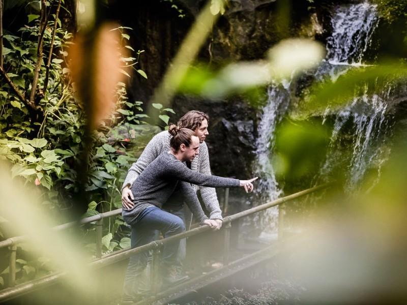Koppel op een brug in de jungle. Foto Karin Keesmaat