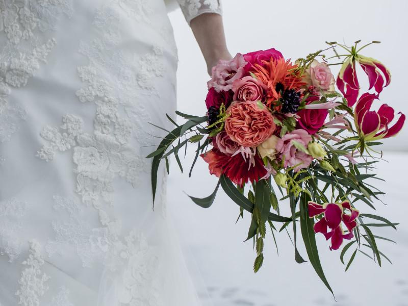 Bruidsboeket. Foto Karin Keesmaat