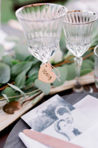 Glas met naamkaartje, Foto Jessica Photography