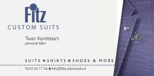 Visitekaartje Fitz Custom Suits Twan Kandelaars