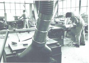 Aart Lievestro in de werkplaats van Groot Schuylenburg
