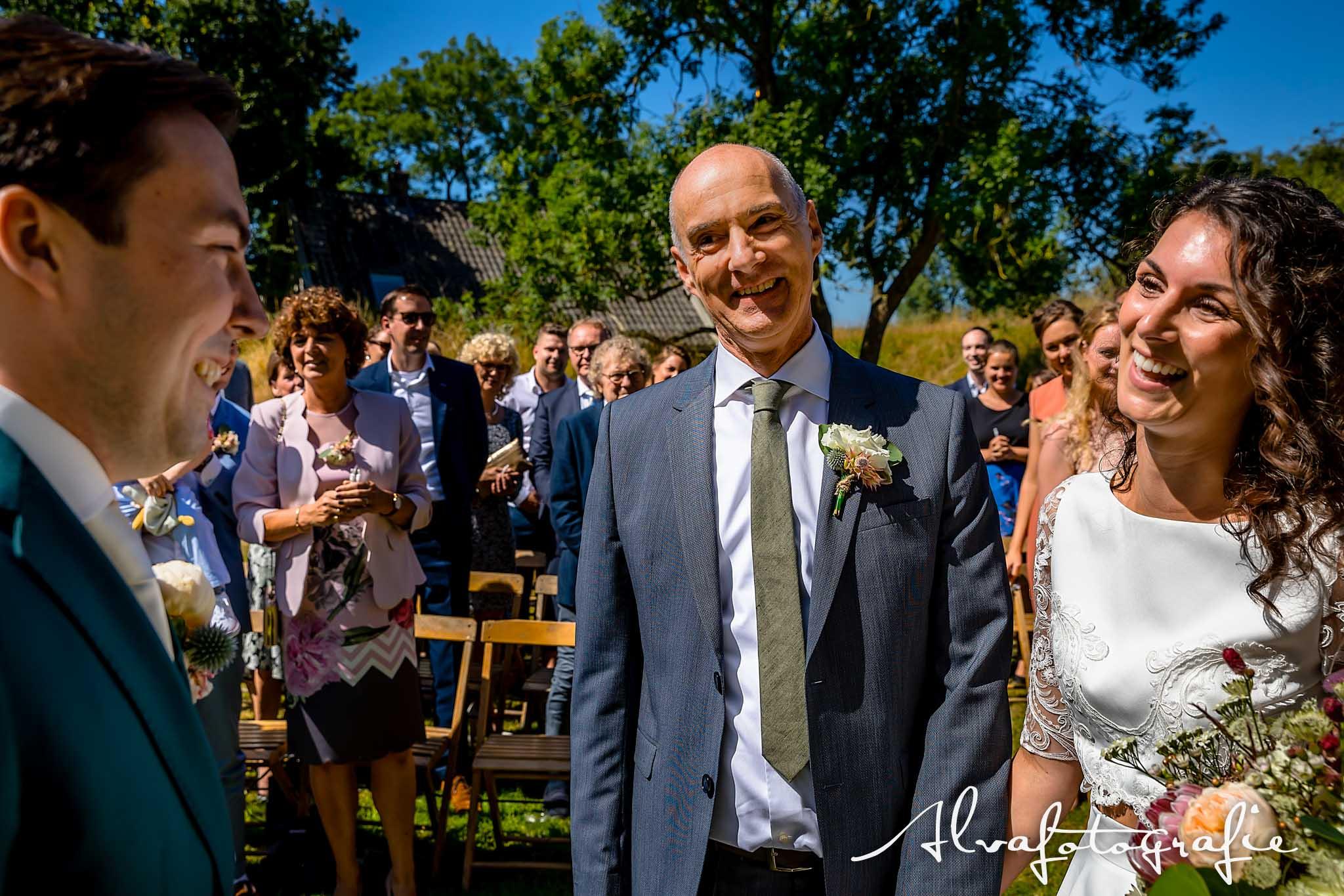 Bruiloft Maren en Tim Alvafotografie vader bruid