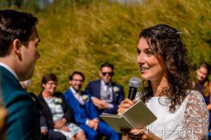 Bruiloft Maren en Tim Alvafotografie bruid zegt trouwgeloften