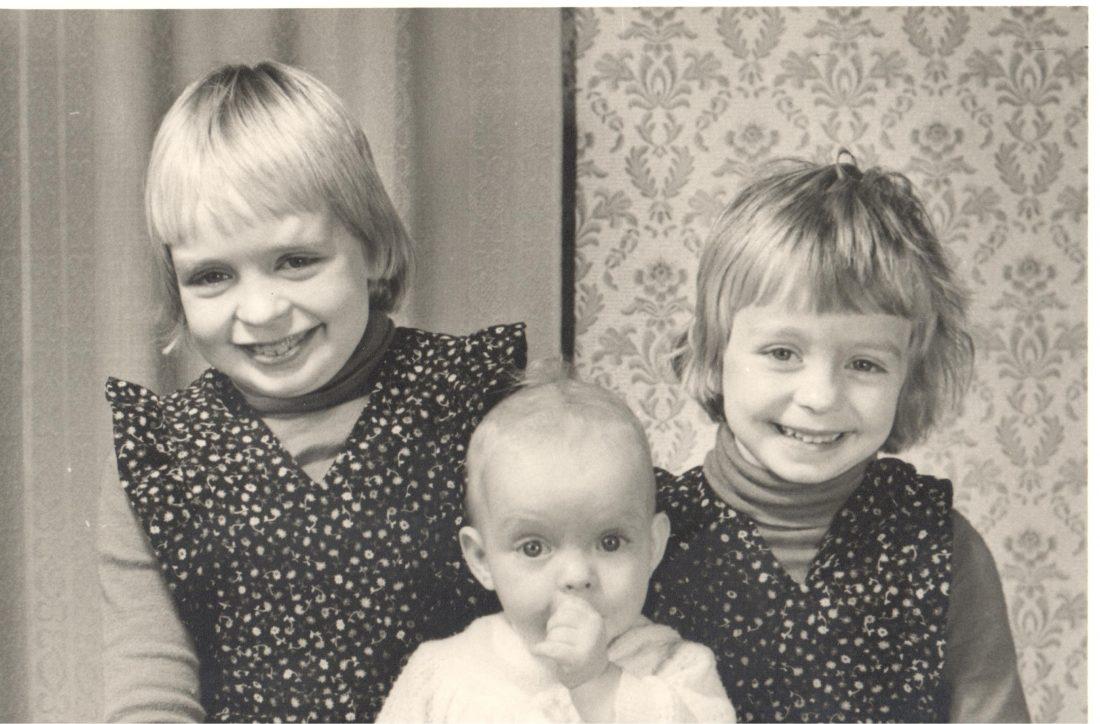 Dochters Aart en Gijsje Lievestro: Anja, Irene en Marian (in het midden)