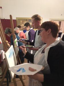 Workshop schilderen Nationale Vrijwilligersdag wijk Osseveld-Woudhuis