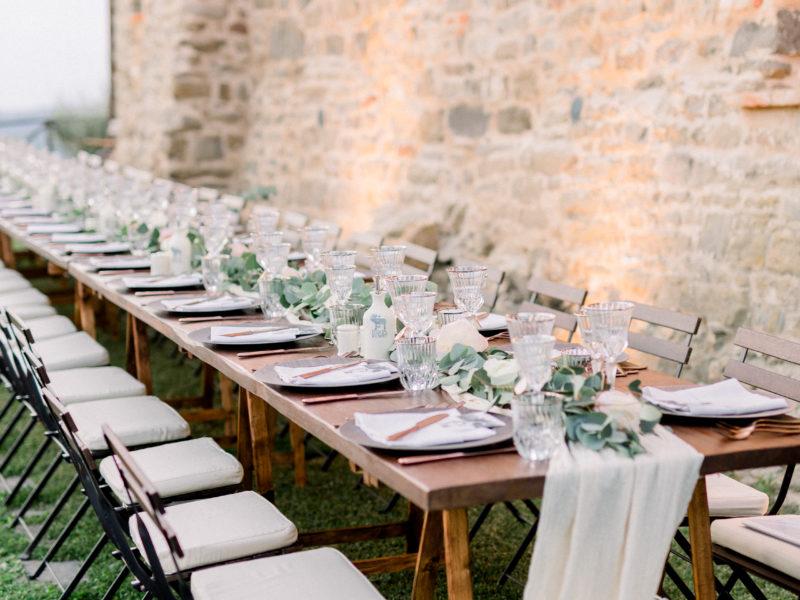 Dinertafel Italië met kaasdoek. Foto: Jessica Photography