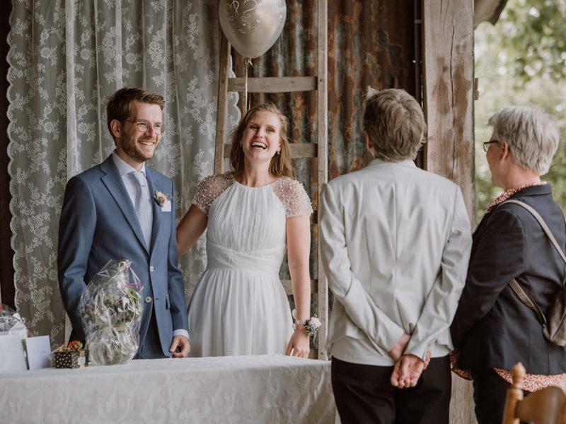 Felicitaties op afstand vanwege corona. Bruiloft Christiaan en Lydia, foto d-eYe photography